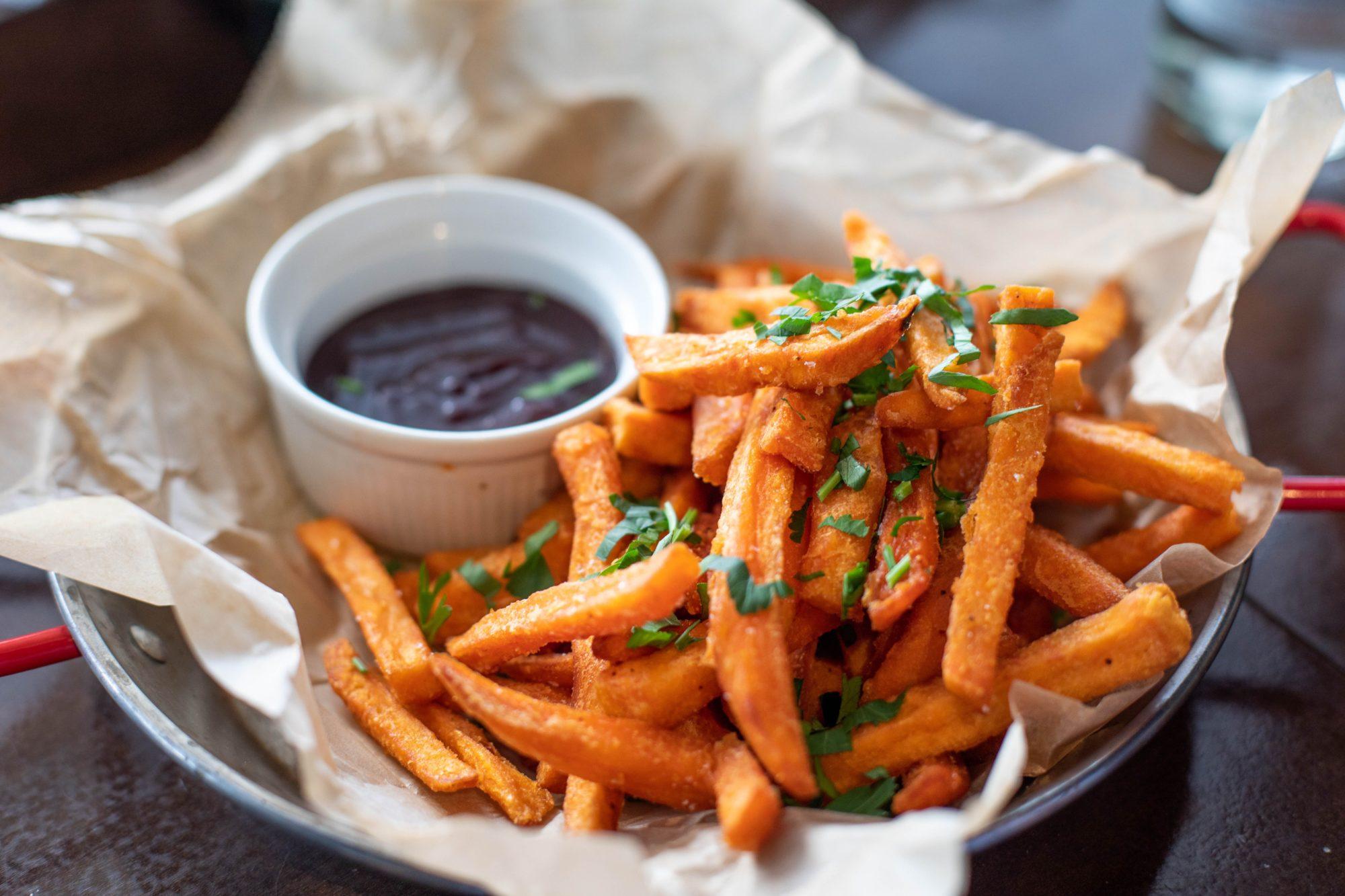 Frites de patates douces - Recette Sport